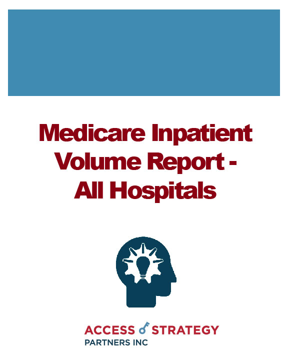 Medicare Inpatient Volume Report - All Hospitals