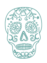 day of the dead skull icon