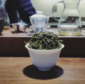 Gaiwan full of tea leaves.