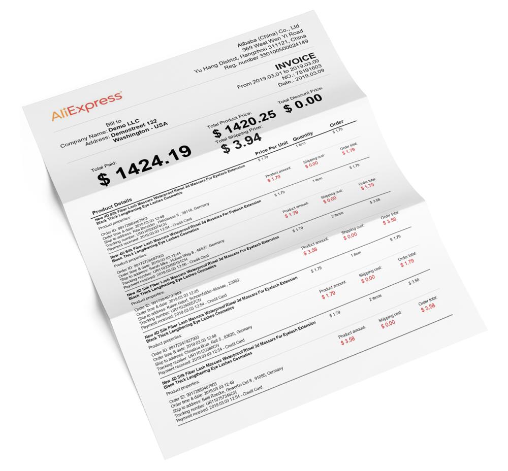 Profitario Download Aliexpress Invoices For Free