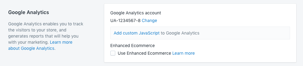 Google Analytics enabled