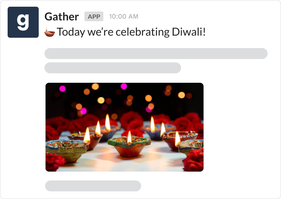 Use case for a holiday announcement