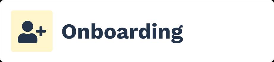 Onboarding category