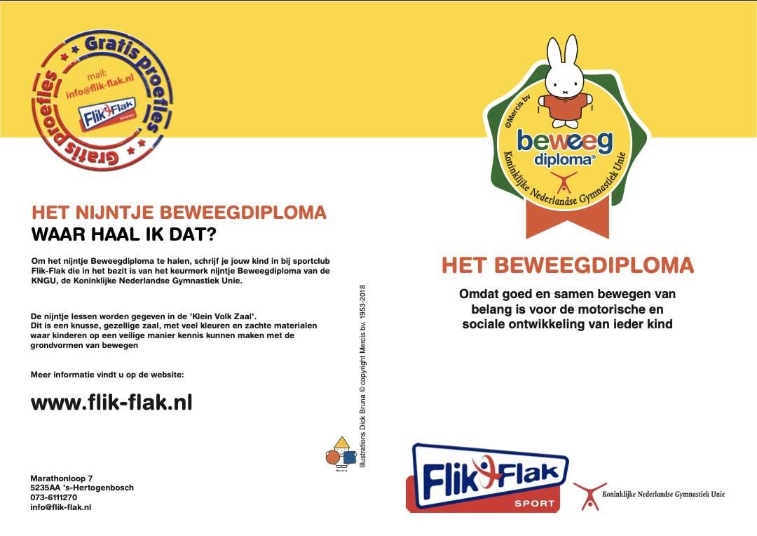 Nijntje beweegdiploma - gratis proefleskaart