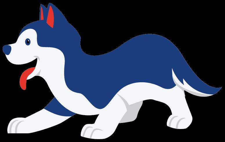 Hondje Flip kruipend - icon voor Flik-Flak Escape Room
