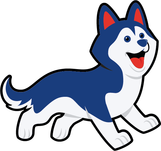 Hondje Flip rennend - icon voor Flik-Flak Escape Room