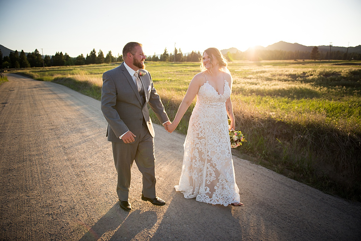 Backyard Montana wedding