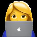 Female technologist emoji