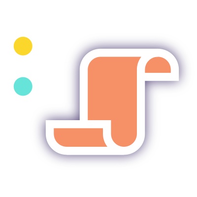 A stylized script icon