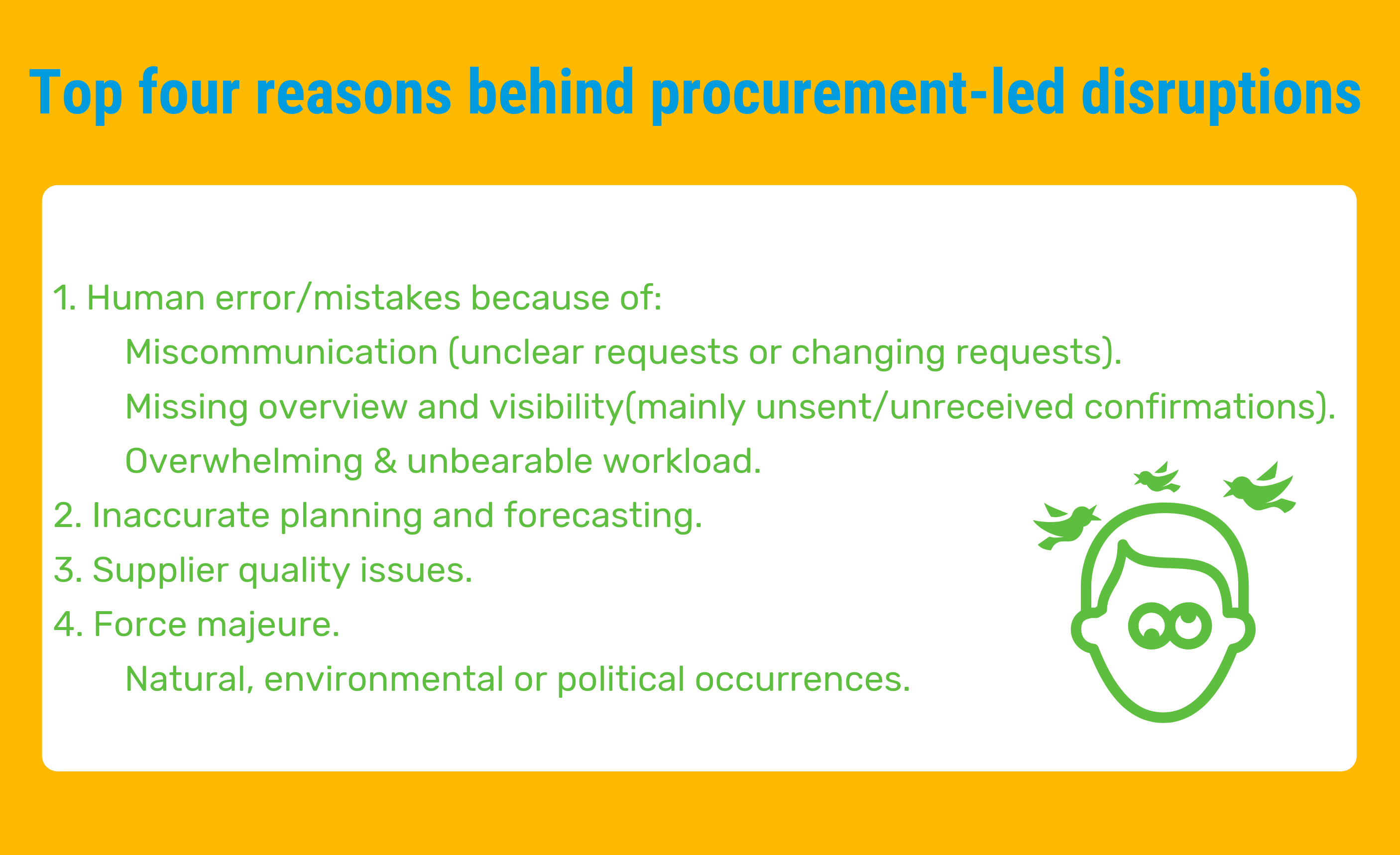 Top four reasons behind procurement-led disruptions