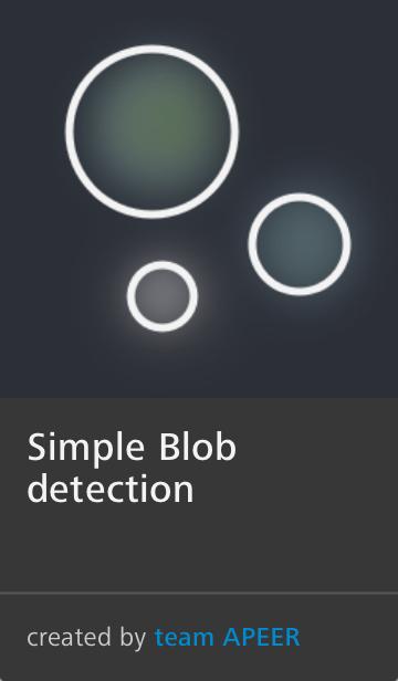 APEER Image Processing Module Blob Detection