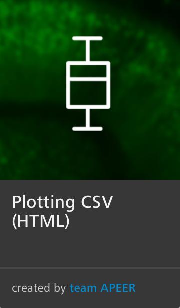 APEER Image Processing Plotting CSV Module