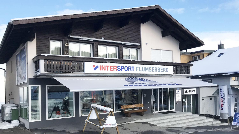 Intersport Flumserberg, Sportgeschäft, Tannenboden-Dorf