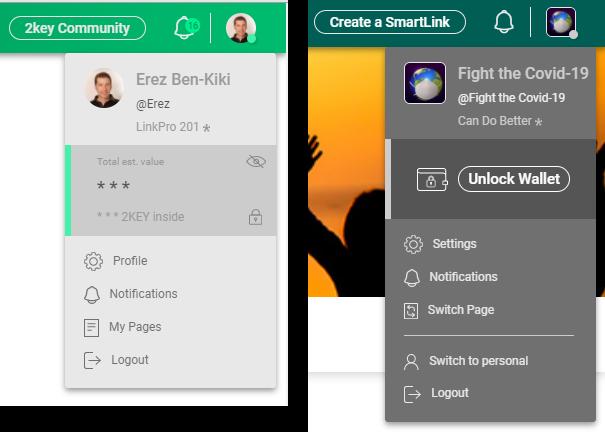 New header, menus & wallet unlock UX