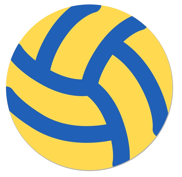 the scroll bar is a blue and yellow volleyball inside a volleyball net