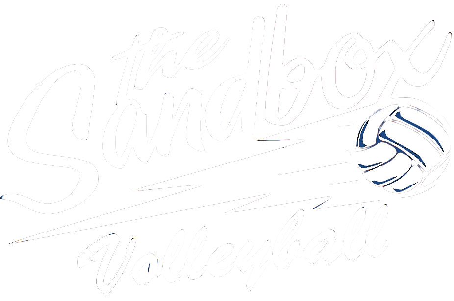 sandbox volleyball logo with link to sandbox volleyball homepage