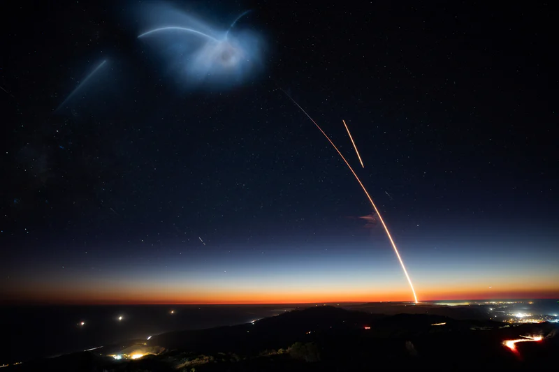 A comet in earth's atmosphere symbolizing a bigger vision or purpose.