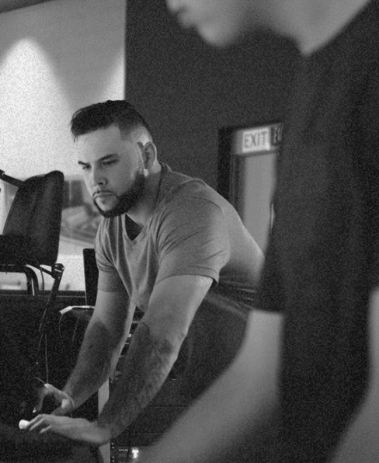 guy in a music studio
