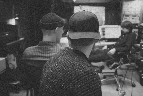 2 guys in a music studio