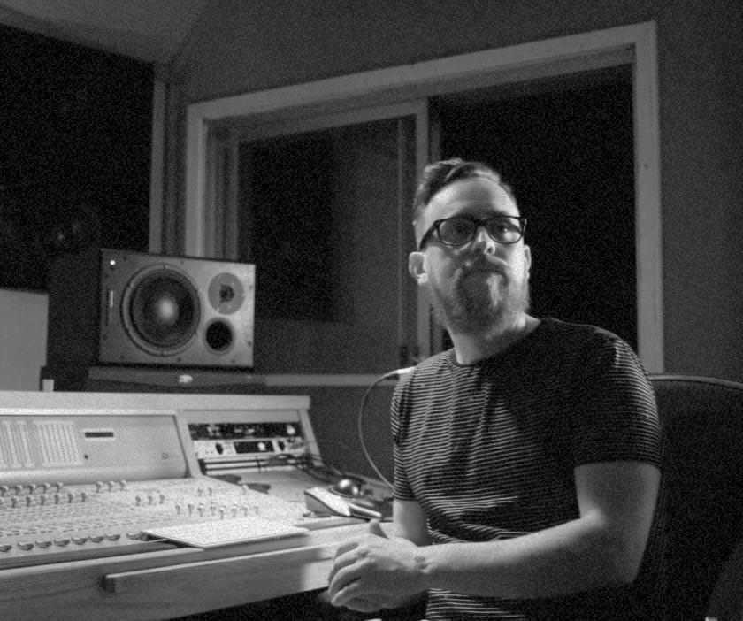 Man in a music studio