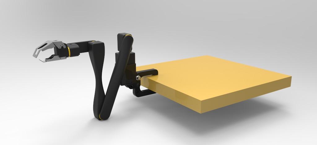 arm on table
