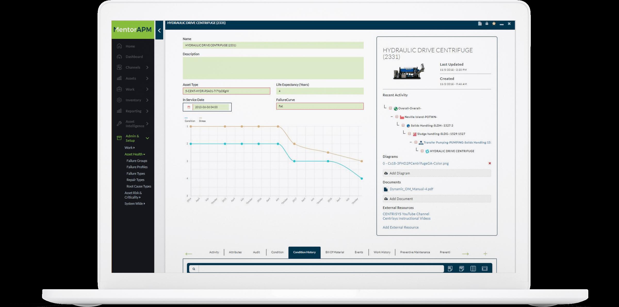 MentorAPM software demo screenshot