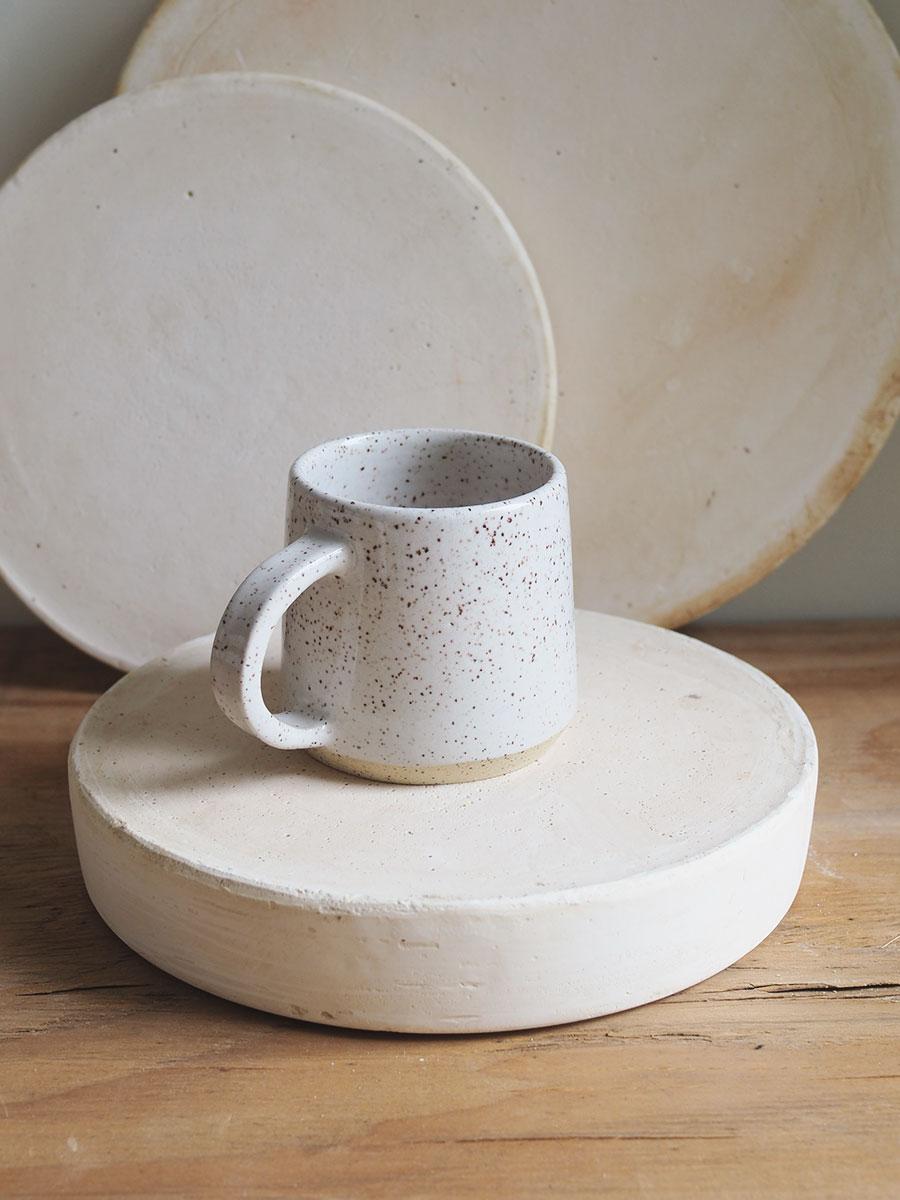 *Seconds* Halfmoon Mug in Eggshell