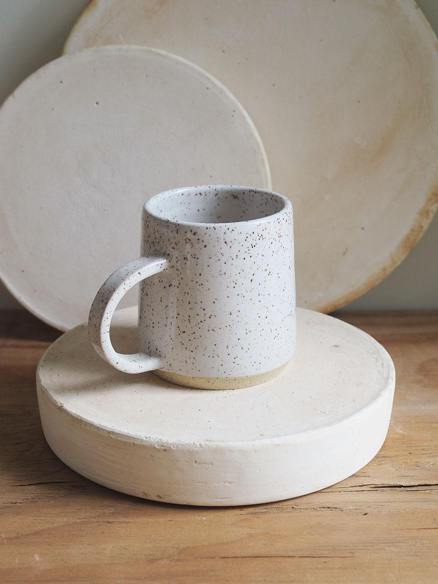 *Seconds* Big Halfmoon Mug in Eggshell