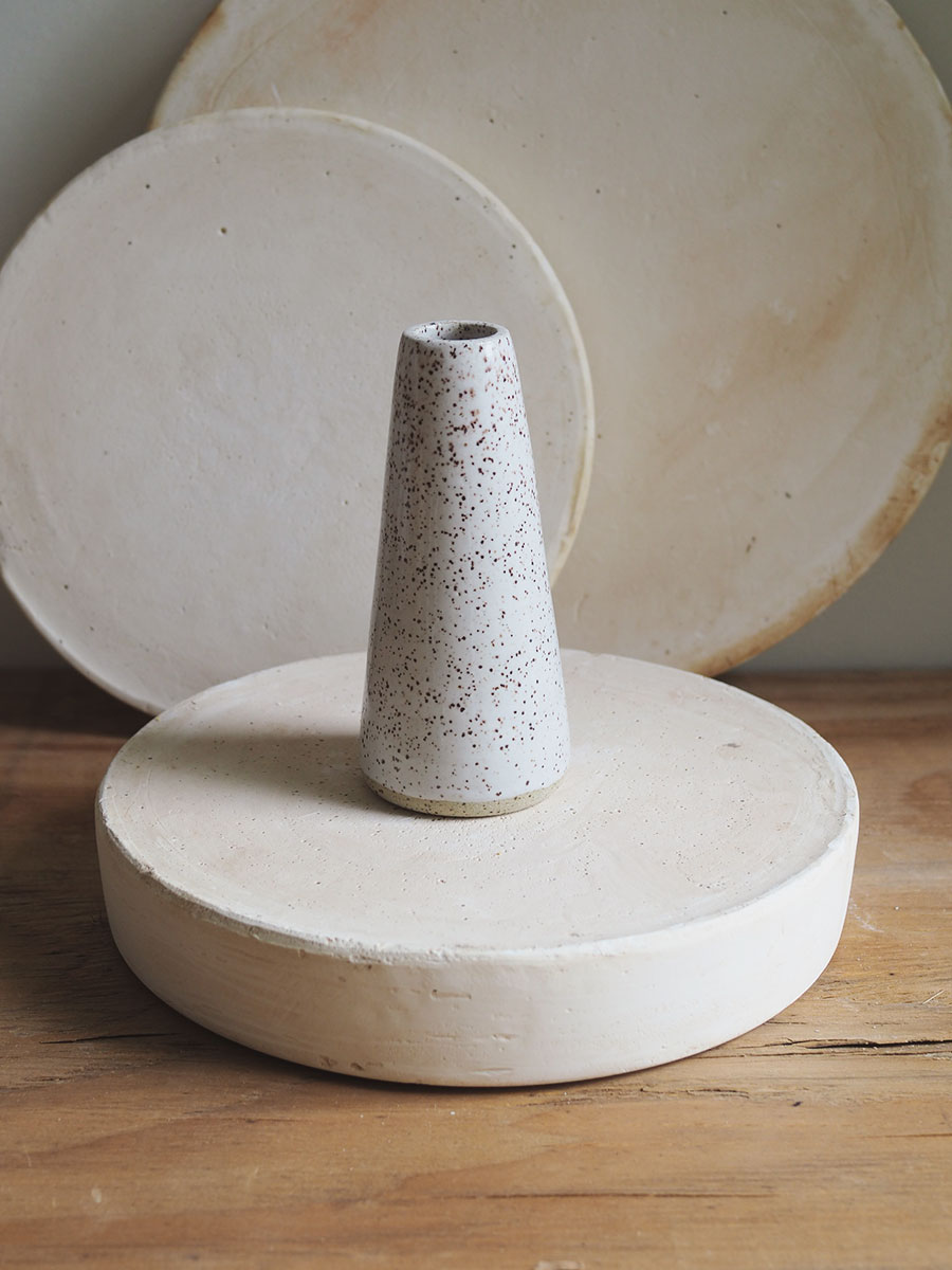 *Seconds* Cone Vase in Eggshell