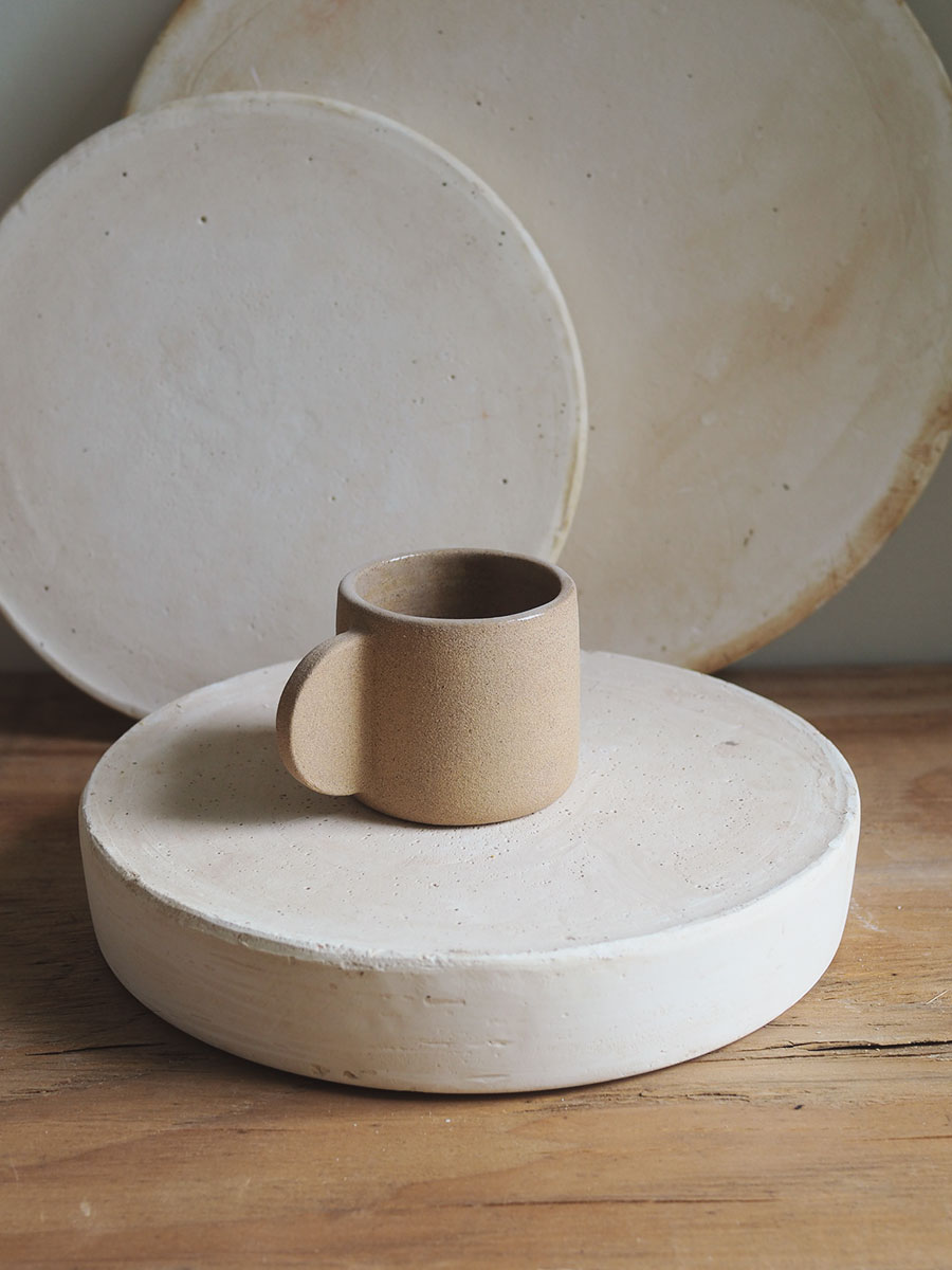 *Seconds* Espresso Cup in Raw Sand
