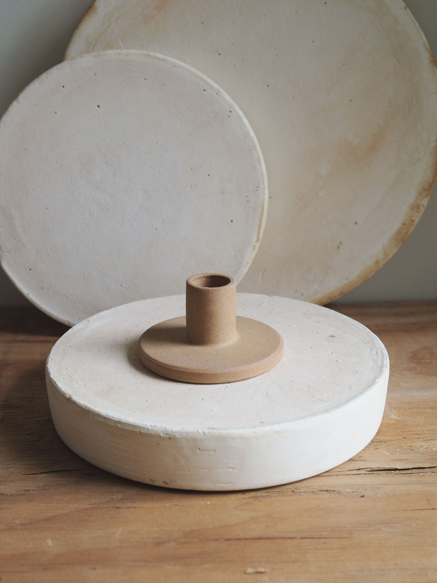 *Seconds* Candle Holder in Raw Sand