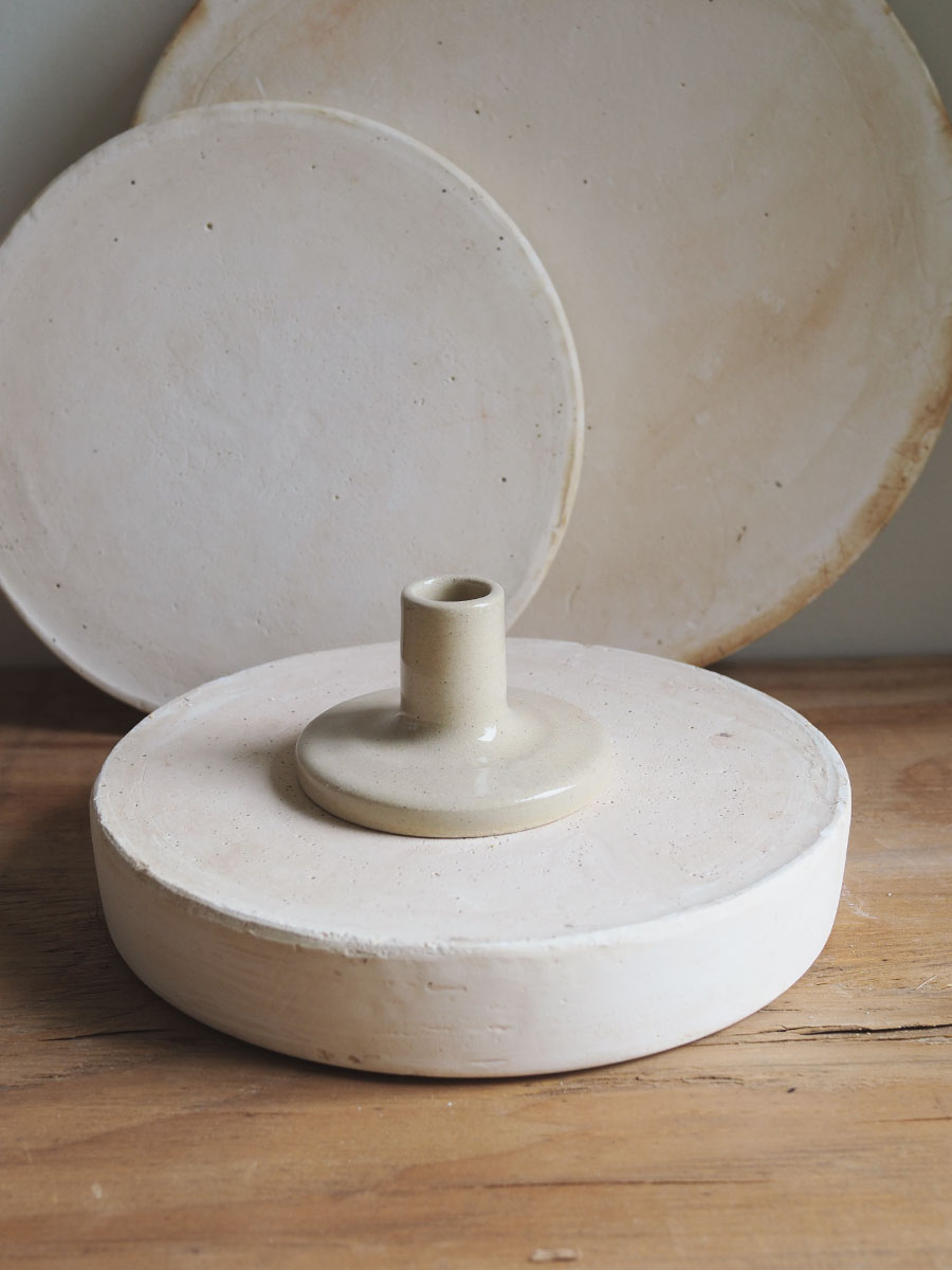 *Seconds* Candle Holder in Natural