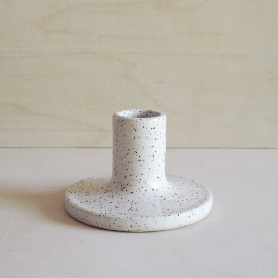 Candle Holder in Eggshell