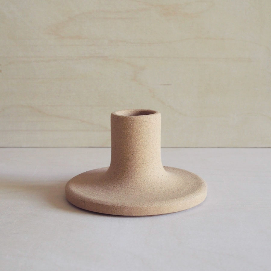 Candle Holder in Raw Sand