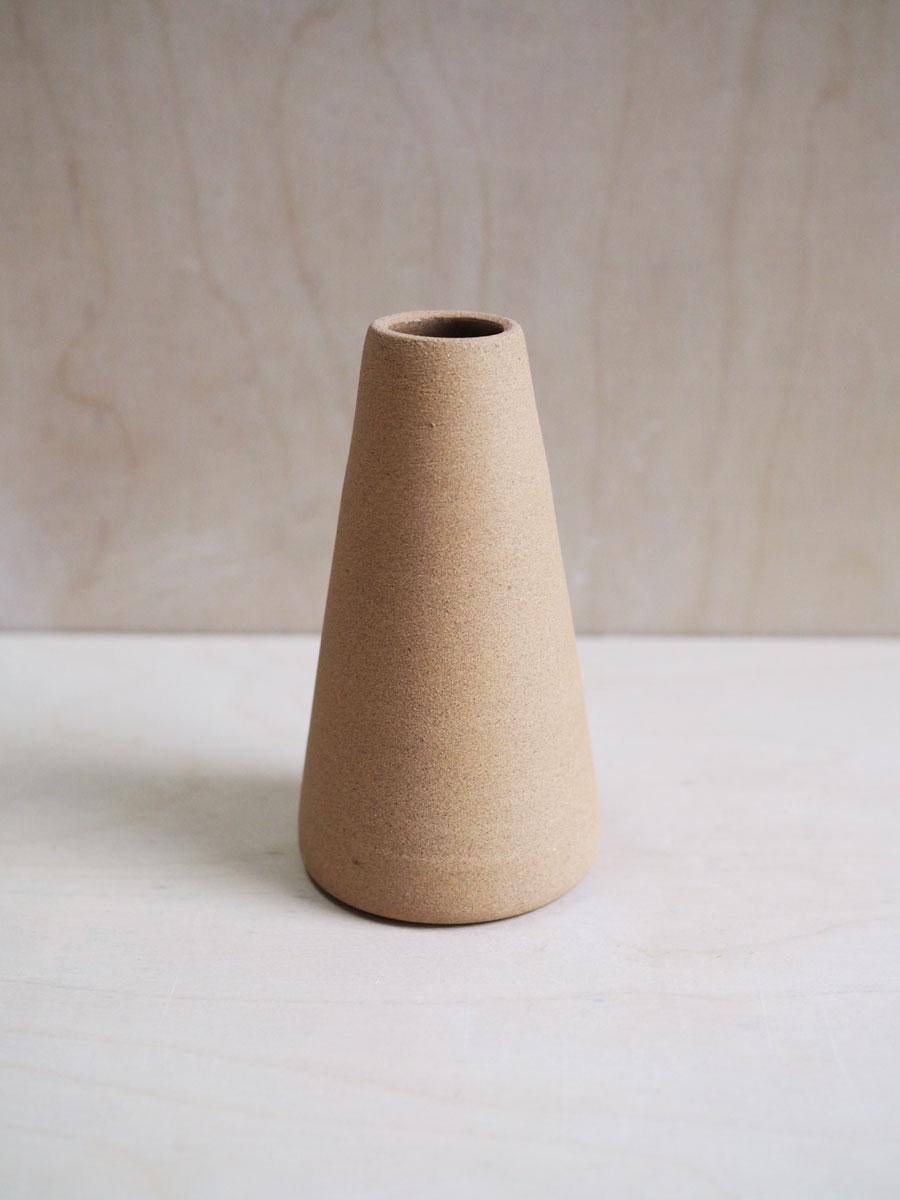 Cone Vase in Raw Sand