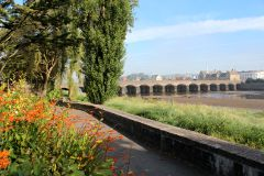 View of the 16 arch Barnstaple Long Bridge