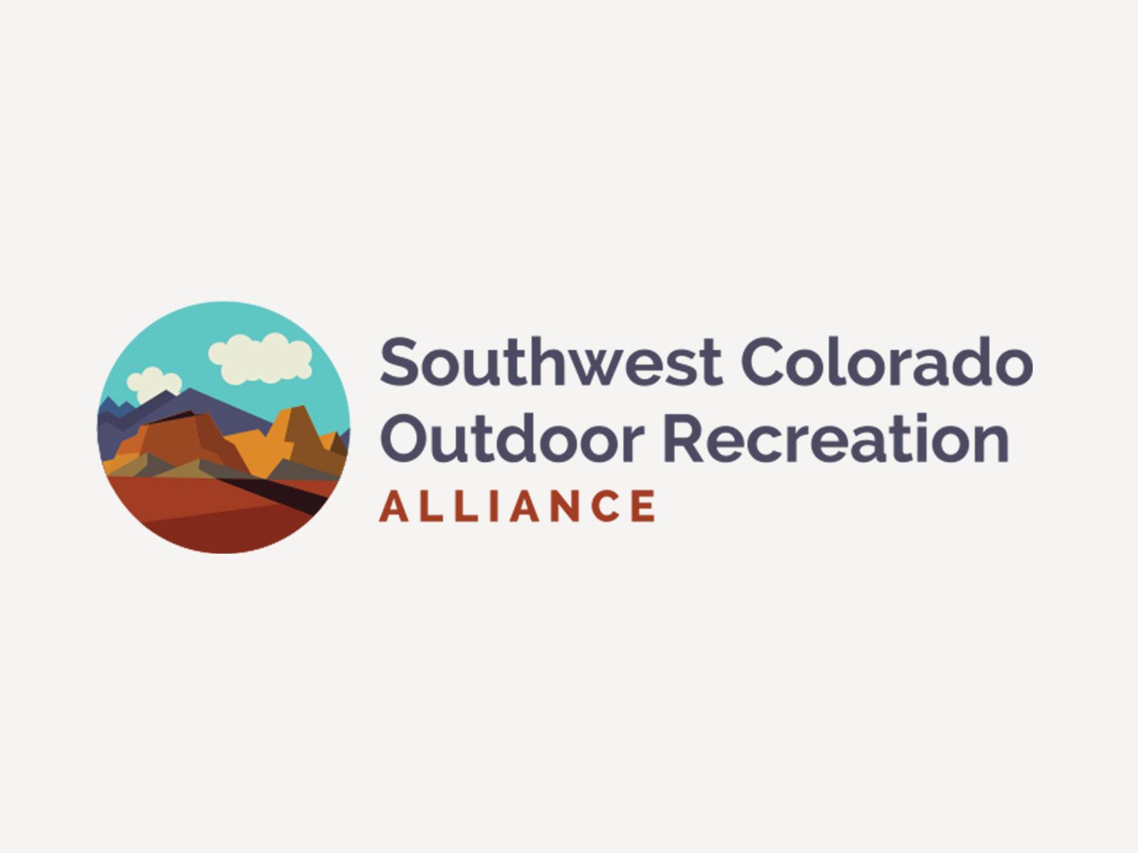 Southwest Colorado Outdoor Recreation Alliance logo and website