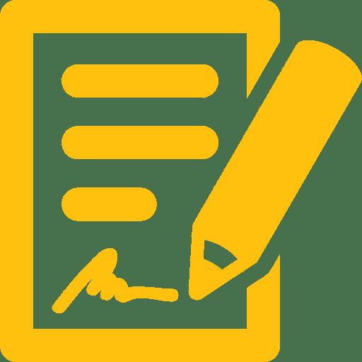 document and pen signature