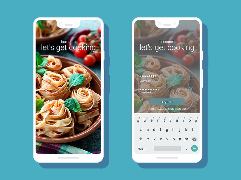Joshua Harling | Recipe App Startup Screens