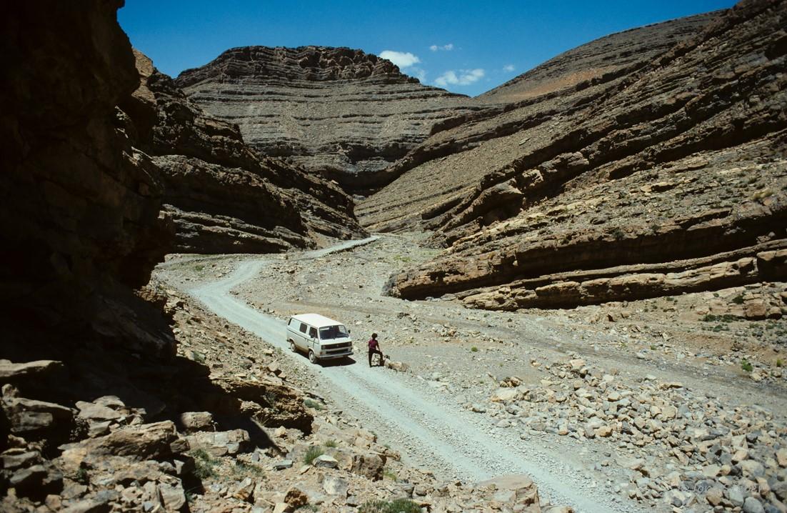 1992: unterwegs im Altas Gebirge/ Marokko