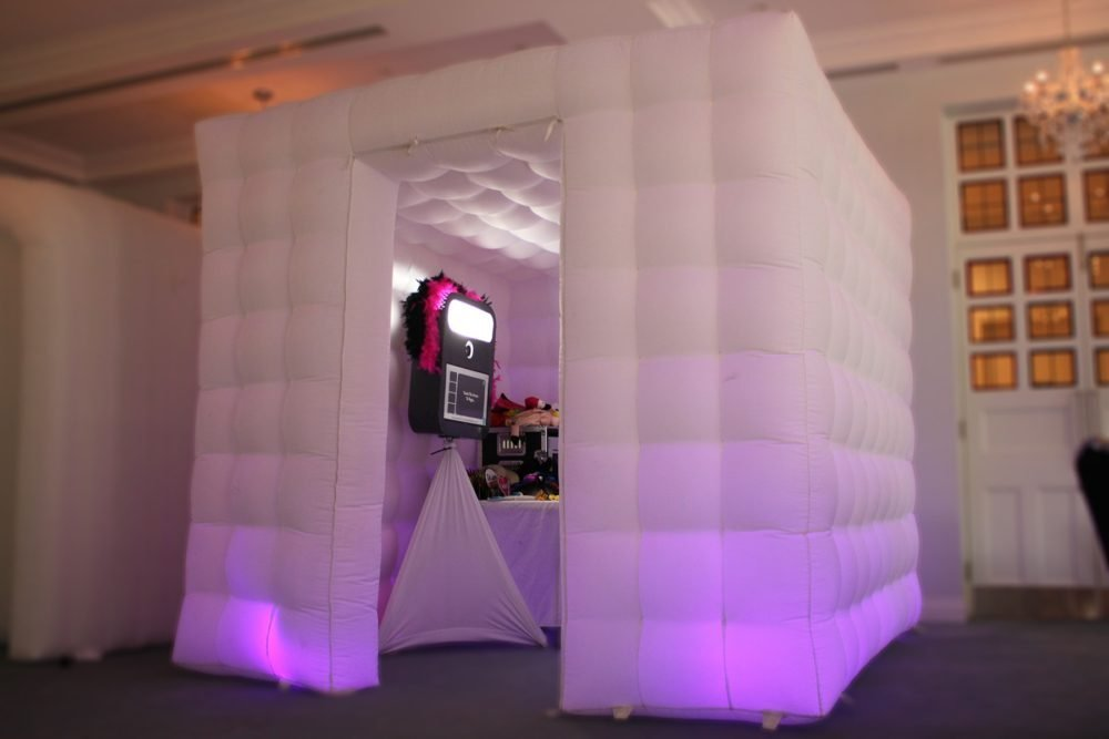 The Cube Booth is the original kent inflatable LED photo booth of its kind. Perfect for those venues with enough room for this large photo booth with tons of room to fit loads of people in at once. Its stylish lights provide a great igloo atmosphere with all of the props and selfie pod inside. Instant prints or Guestbooks made easy - Book now with Kents trusts event entertainment supplier online today.