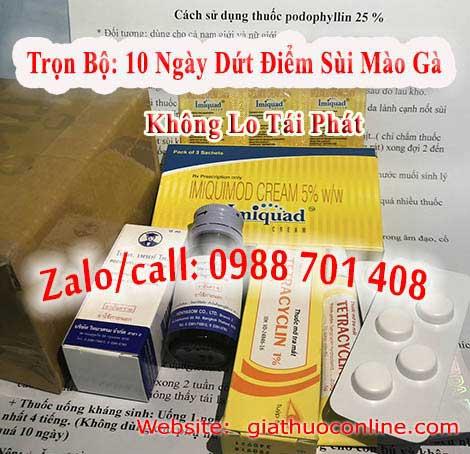 Mua thuốc podophyllin 25 tại Quảng Ninh chữa sùi mào gà ở Quảng Ninh triệt để