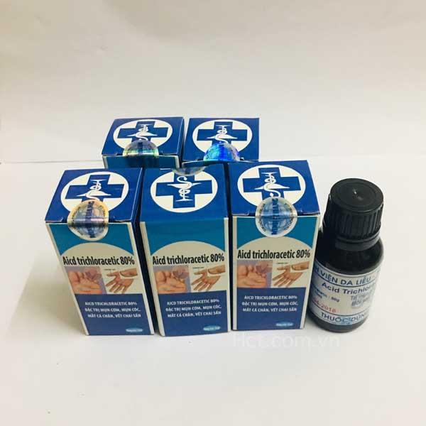 Thuốc chữa bệnh sùi mào gà Acid Trichloracetic 80%