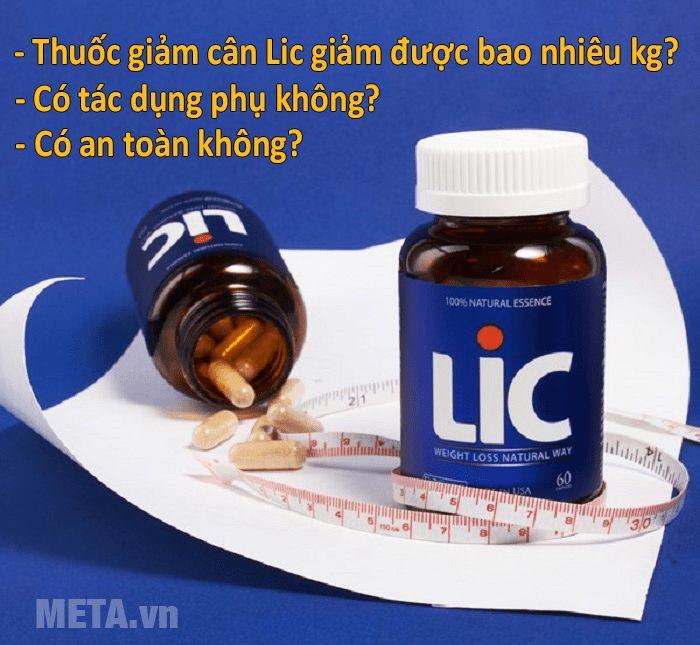 Viên uống giảm cân LIC đảm bảo an toàn