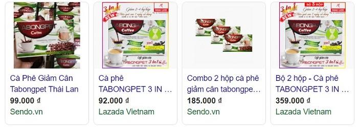 tabongpet coffee có tốt không, cà phê giảm cân tabongpet, tabongpet coffee giảm cân, tabongpet coffee review, cafe tabongpet