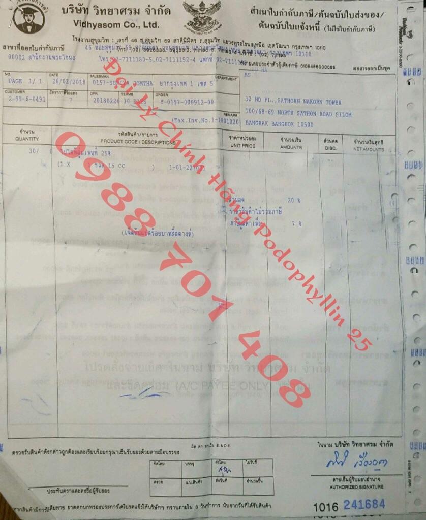 Mua thuốc podophyllin 25 tại Hà Nội ở đâu chính hãng GIAO TRONG NGÀY