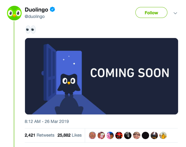 Duolingo April Fools' Twitter Preview