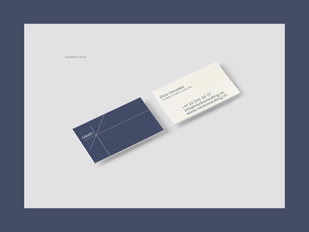 Prototype des cartes de visite M&BD