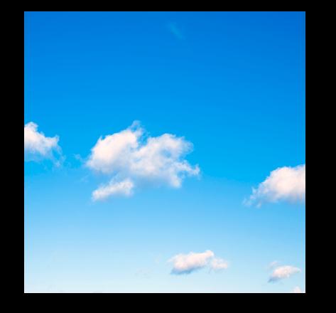 Le ciel bleu du turfu version rising blue