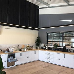 Commercial Building Decorating Services Kitchen Area